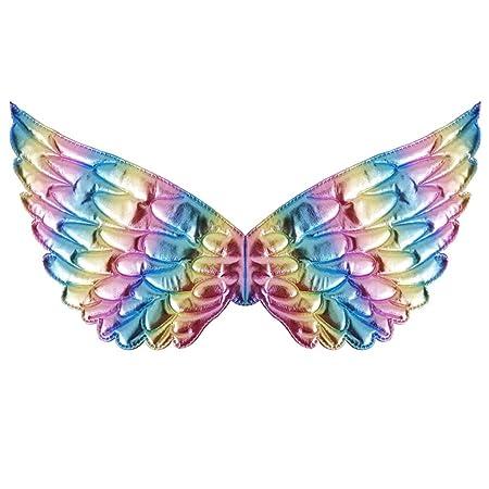 VOVOL - Disfraz de hada con alas de ángulo de hada metálicas para ...