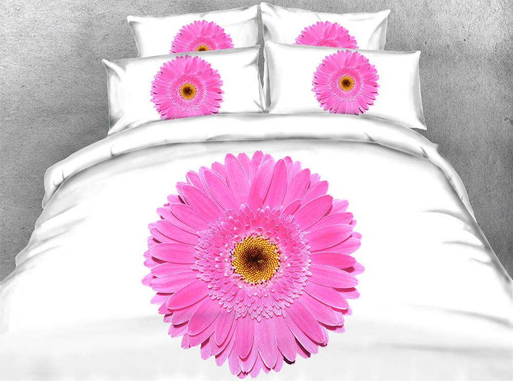 Amazon.com: 3D Printed Pink Flowers Bedding Sets Twin Full ...