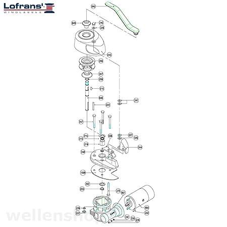 Ankerwinde 12V Lofrans X0 für 6mm Kette Seil: Amazon.de: Sport ...