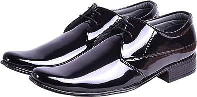 structural disablities new season attractivefashion SECRET CLOSET Men's AS Black Shining Formal Shoes