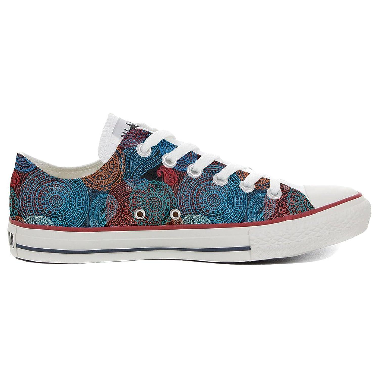 Converse Custom Slim personalisierte Schuhe Paisley (Handwerk Produkt) Back Groud Paisley Schuhe  36 EU 01c119