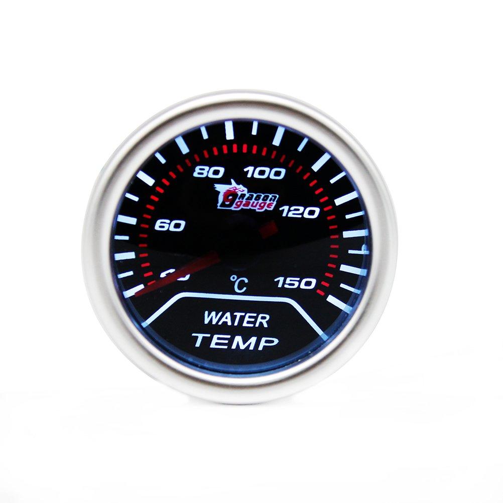 WINOMO Calibre de temperatura del agua 52 mm luz blanca auto coche 12 V