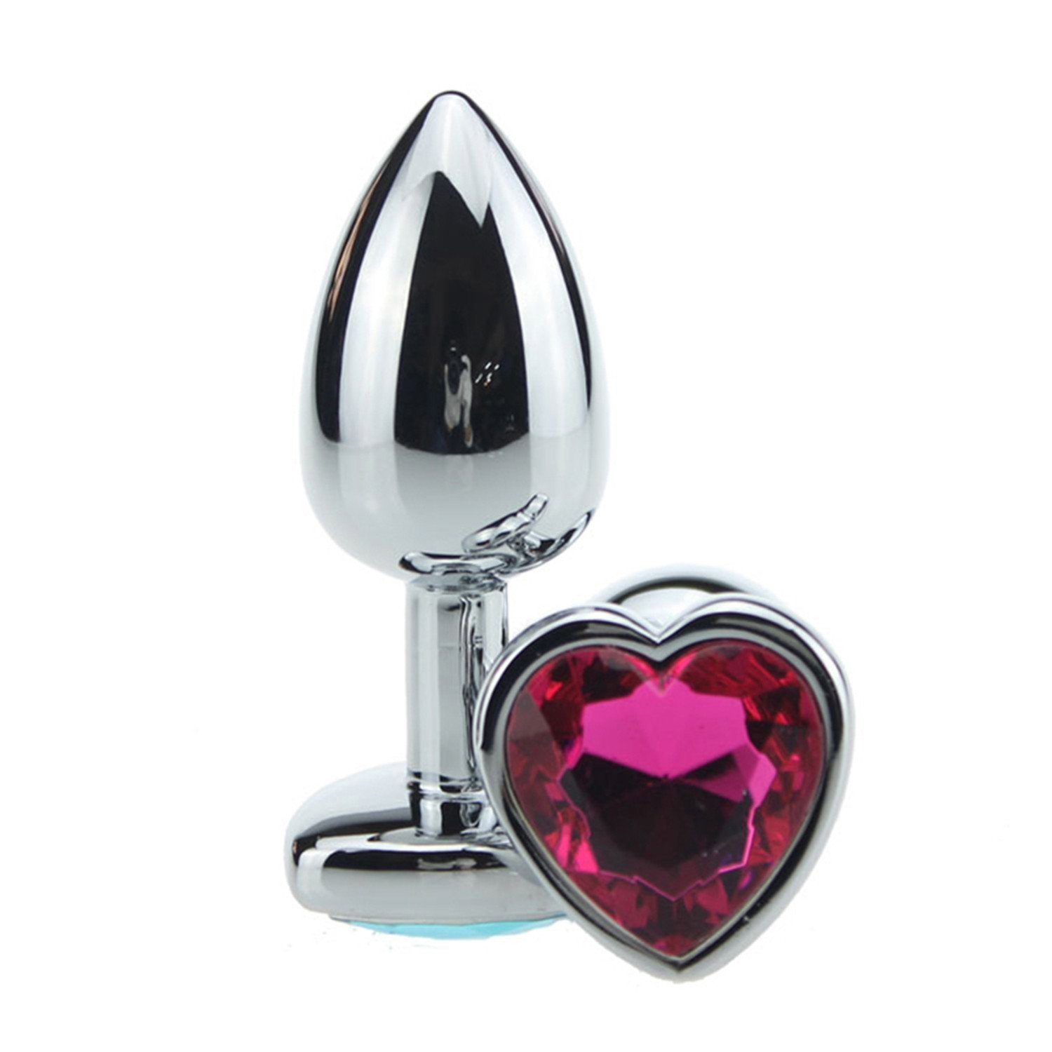 Handheld Small Size Metal Heart Shape Plug Anal 75 28Mm BǘttPlug Erotic Booty Beads Anal Jewelry adǜlt Sěx Tǒy for Woman Men Sěx Product