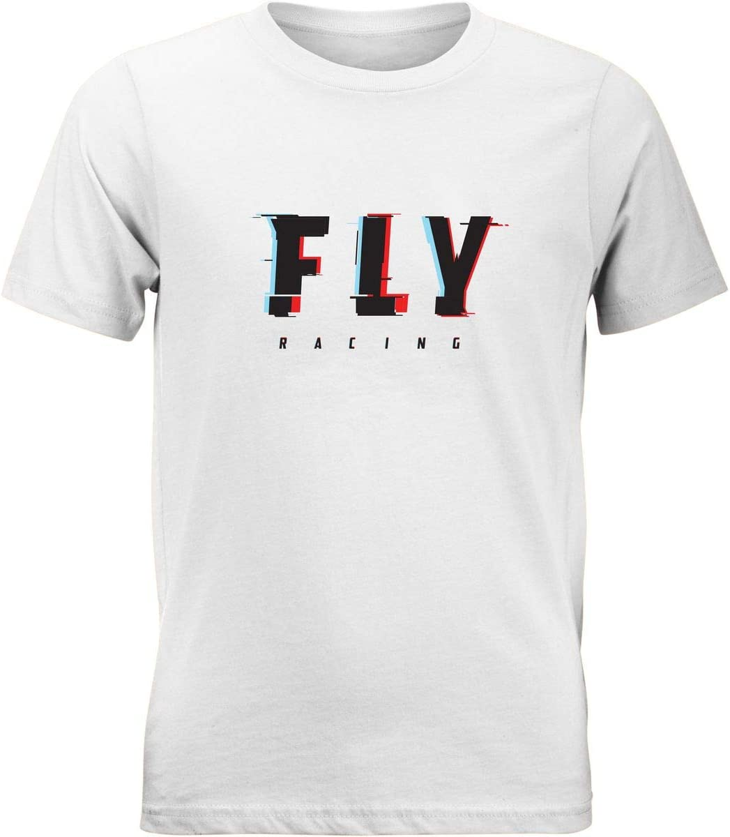 White Fly Racing Youth Glitch T-Shirt Small