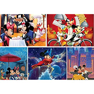 Ceaco Disney 5 in 1 Multipack Mickey and Friends Jigsaw Puzzles, (2) 300 Pieces, (2) 500 Pieces, (1) 750 Pieces: Toys & Games [5Bkhe0305563]