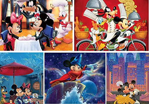 Ceaco Disney 5 in 1 Multi-Pack Jigsaw Puzzle (750 Piece) - 1 Puzzle Pack