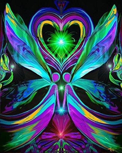 Twin Flames, Chakra Art Print, Angel Wall Decor,