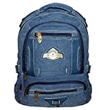 Bagathon India Multi Pockets 30 Ltrs Denim Blue Backpack