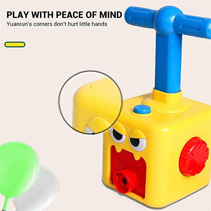 Mosunx Science Experiment Intelligence Toy for Kids,DIY Balloon Power Car Recoil Force Kit Technology Experiment Educational Kid Toy Balloon Race Car Multicolor, 2 Car + 6 Ballon