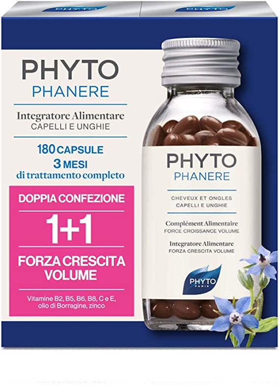 Phyto Phytophanere Food Supplement Cabello y Uñas 90 + 90 Cápsulas