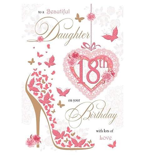 Hija 18th Tarjeta de cumpleaños - 18 hoy brillante mariposas ...