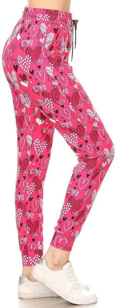 S-XL BAT1 Leggings Depot Premium Womens Joggers Popular Print and Solid High Waist Track Yoga Full Length Pants