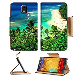 Nature Hawaii Kauai Beaches Scenery Samsung Galaxy Note 3 N9000 Flip Case Stand Magnetic Cover Open Ports