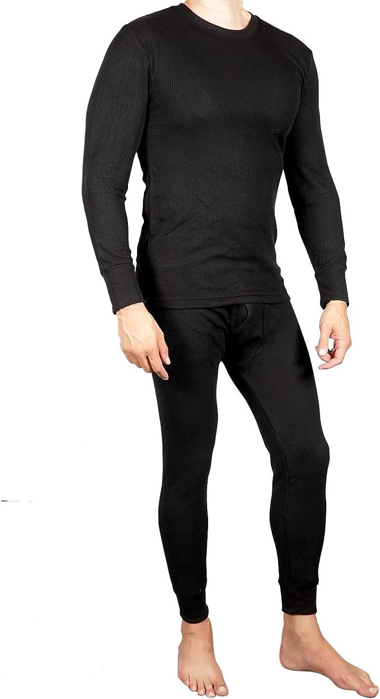 Classic Mens Thermal Underwear Set Long Sleeve Top /& Long John