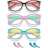 Blue Light Glasses for Kids Boys Girls Teens Premium Computer Glasses Unbreakable Frame Anti Eyestrain UV400 Ray Protection A