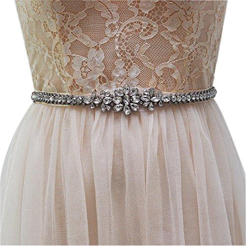 ULAPAN Women's Rhinestones Bridal Sash Bridal Belt Crystals Wedding Belt Wedding Sash (Purple) by ULAPAN