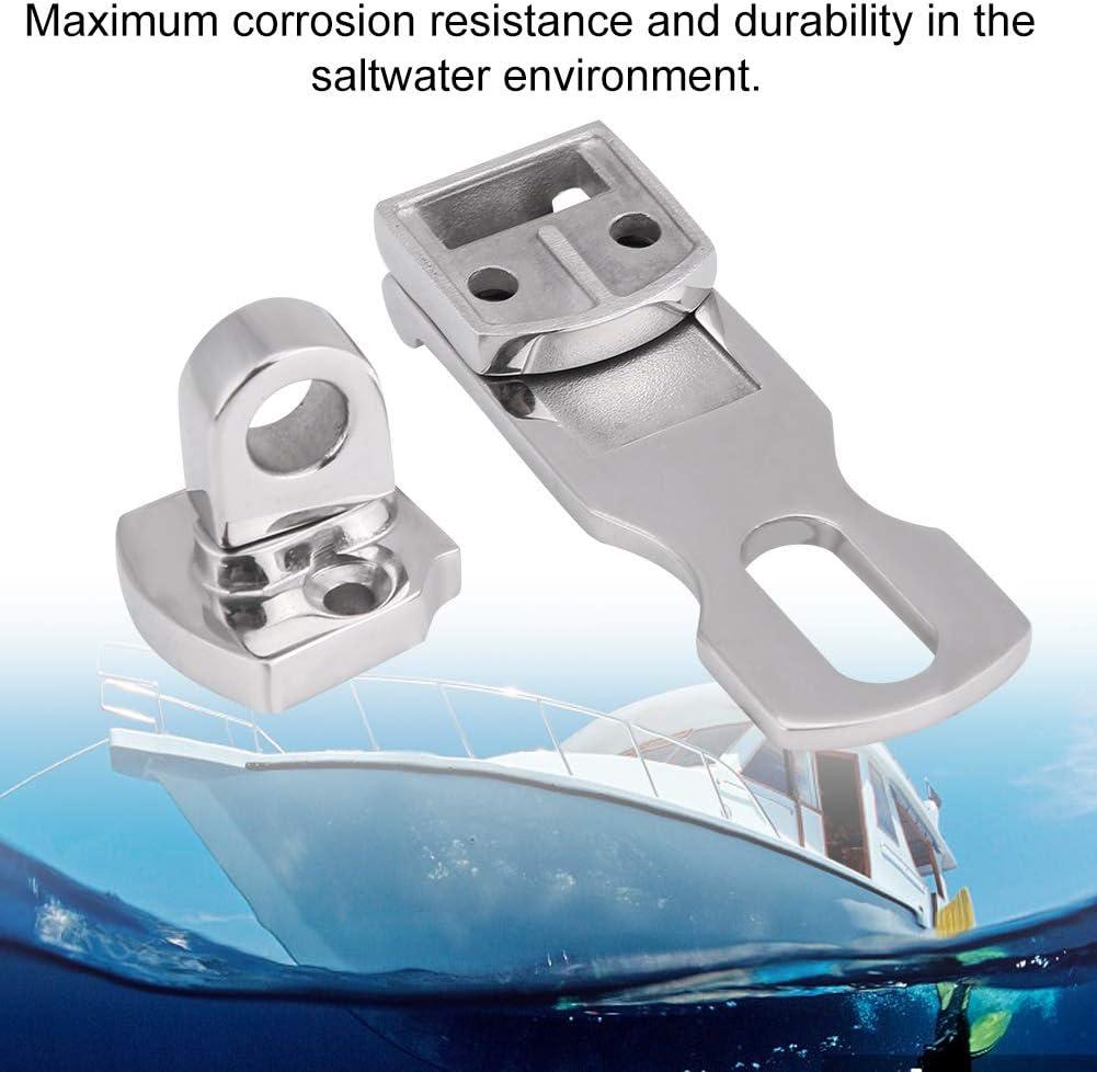 Attache pour loquet de casier en acier inoxydable pour bateau Qiilu Marine Loquets et verrous
