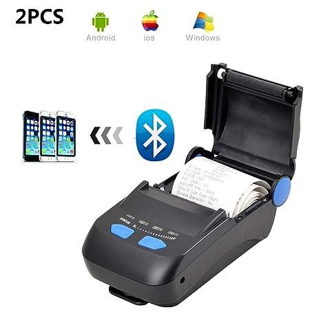 ZUKN Mini Impresora Térmica De 58 Mm con Interfaz USB Inalámbrica ...