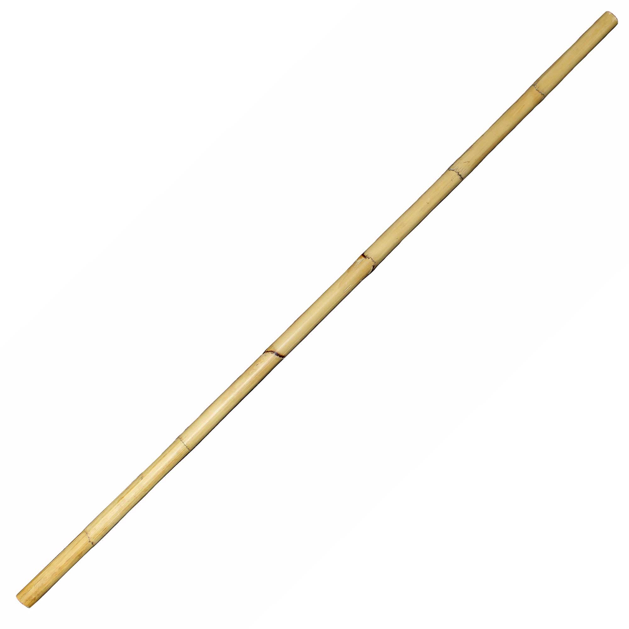 BambooMN 66'' Multi Purpose Solid Natural Rattan Pole - 5.5-ft Long x 1.1-Inch Diameter - 3 Pieces