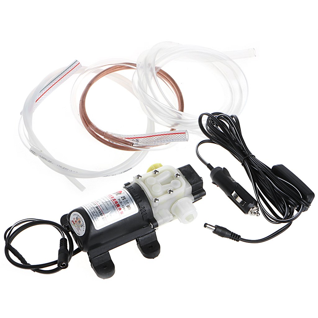 Goodqueen 12V 45W Car Electric Oil Diesel Fuel Extractor Transfer Pump w/Cigarette Lighter for