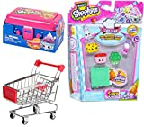 2 in 1 shop and cook playset - Shopkins Figures & Shopping Cart Super Food Bundle / Metal Mini Carriage / lunchbox 2-Pack & Chef Club Season with hidden recipe book Grocery 5-pack