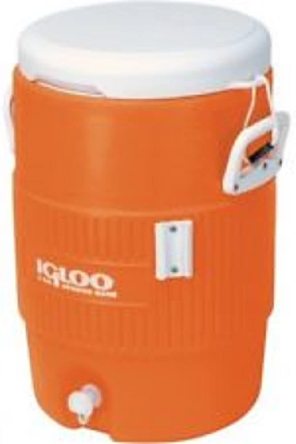 Igloo 5-Gallon Heavy-Duty Beverage Cooler, Orange (5-Gallon, Orange)