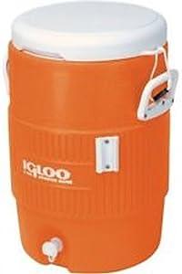 Igloo 5-Gallon Heavy-Duty Beverage Cooler, Orange (5-Gallon, Orange)
