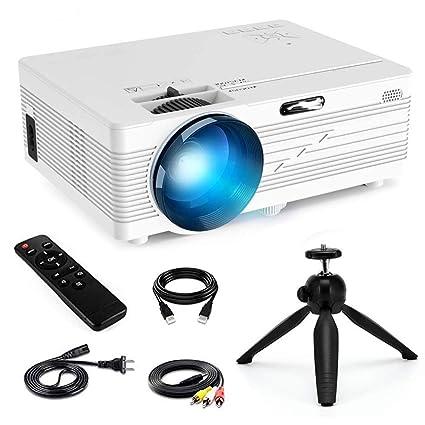 Amazon.com: Mini proyector portátil actualizado 2200 lúmenes ...