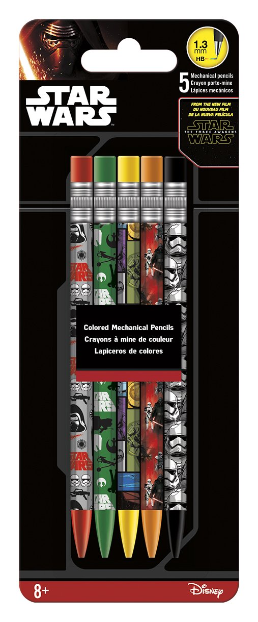 Colored Mechanical Pencils - Star Wars - SWTFA - 5Pcs New Toys Gifts Licensed iw2514 B00Y9KF0ES