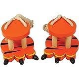 Bigjigs Toys Wooden Tiger Footwalkers - Stilts
