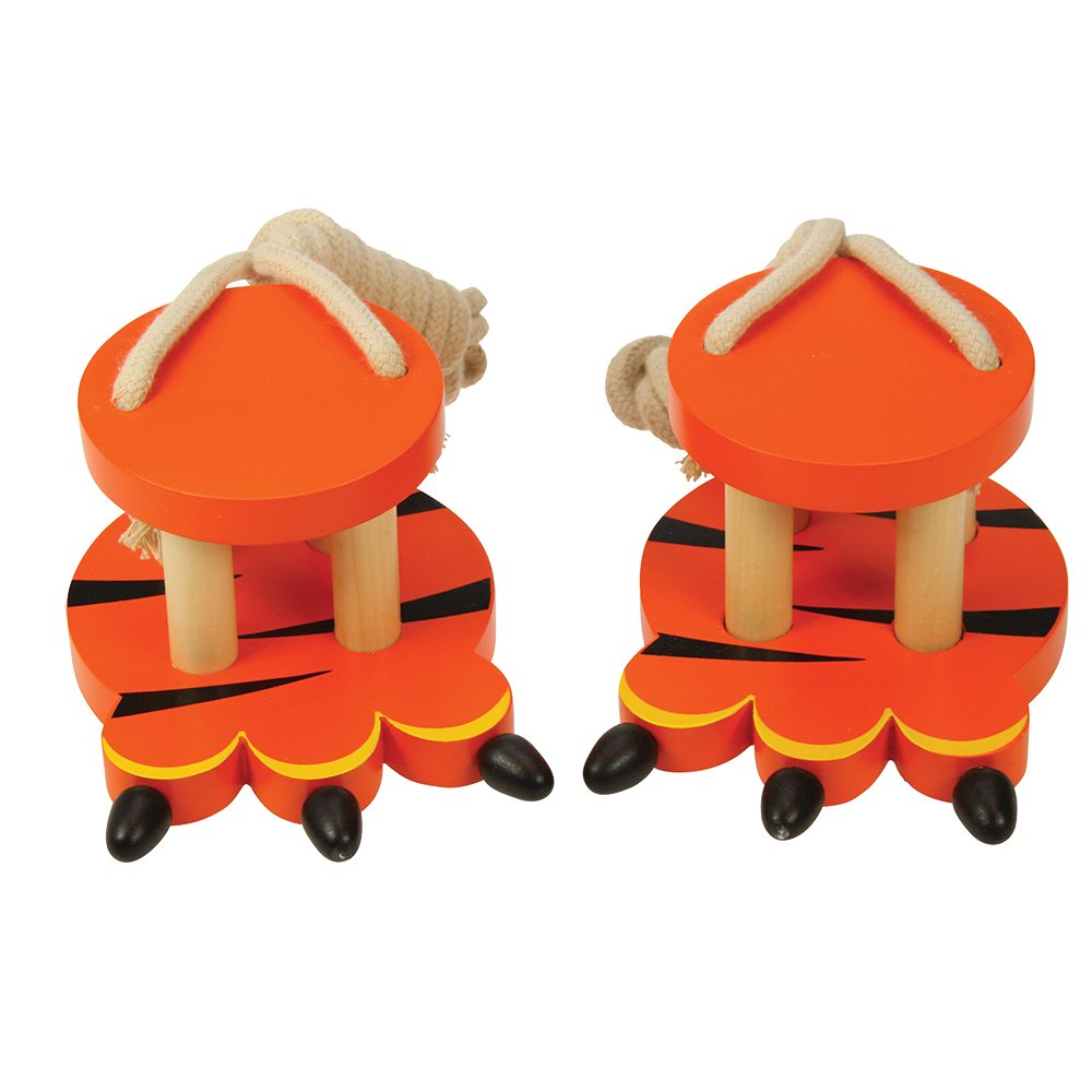 Bigjigs Toys Wooden Tiger Footwalkers BIBJ869