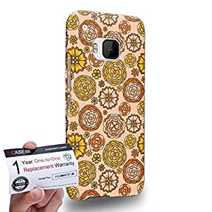 Case88 [HTC One M9] 3D impresa Carcasa/Funda dura para & Tarjeta de garantía - Art Carpet And Tapestry Beige