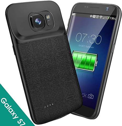 Amazon.com: NEWDERY Funda de batería para Samsung Galaxy S7 ...