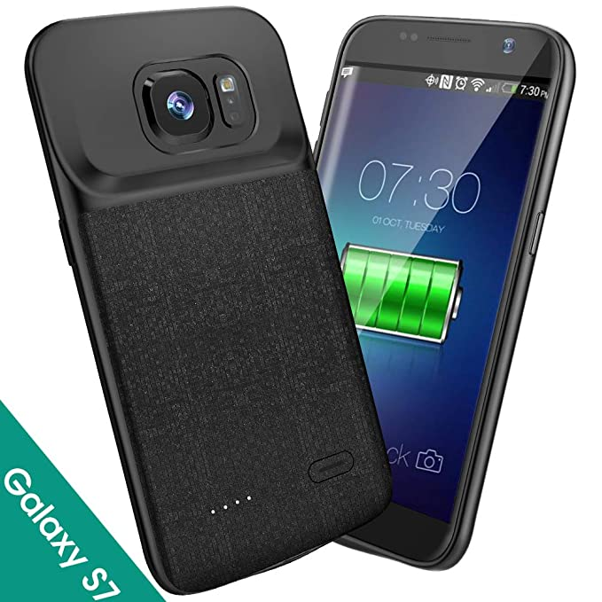 new concept ba861 c7454 Samsung Galaxy S7 Battery Case, Newdery 4700mAh Slim Rechargeable Extended  Charging Case, Battery Power Juice Charger Case with Micro USB Port ...