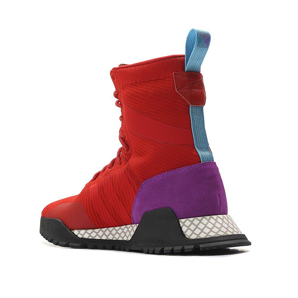 more photos 4b6b2 c4526 Amazon.com  adidas Mens Originals AF 1.3 PK Primeknit Boot  REDPurpleBlack  Fashion Sneakers