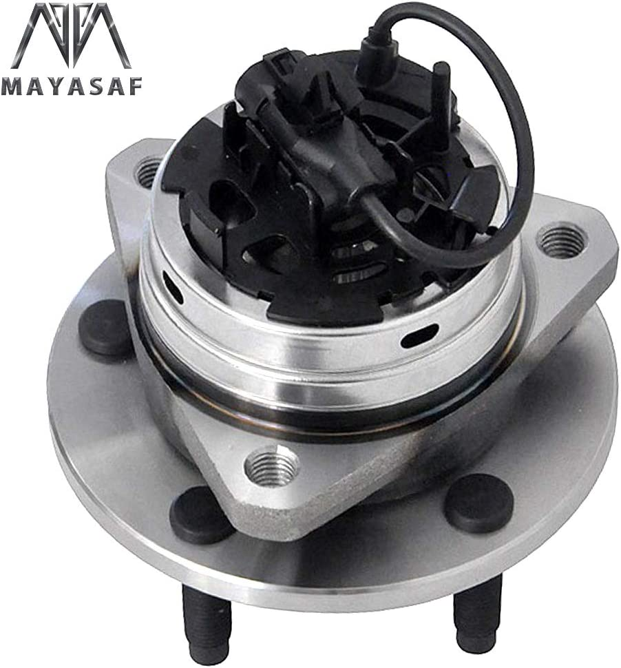 MAYASAF 513214 New Front Wheel Hub and Bearing Assembly 5 Lugs w//ABS for 2006-12 Chevy Malibu 2005-10 Pontiac G6 2007-09 Aura 2008-10 Cobalt SS//HHR SS 1 Pack