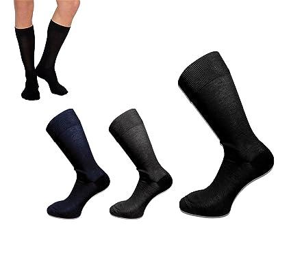 Pack de 6 o 12 pares de calcetines para hombre hechos de hilo de Escocia mws1803