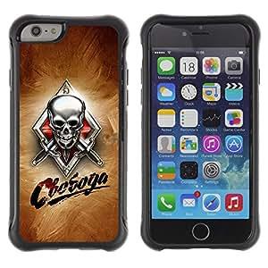 Be-Star único patrón Impacto Shock - Absorción y Anti-Arañazos Funda Carcasa Case Bumper Para Apple iPhone 6 Plus(5.5 inches)( Skull Knives Russian )