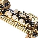 ammoon B Flat Soprano Saxophone Brass Straight Sax