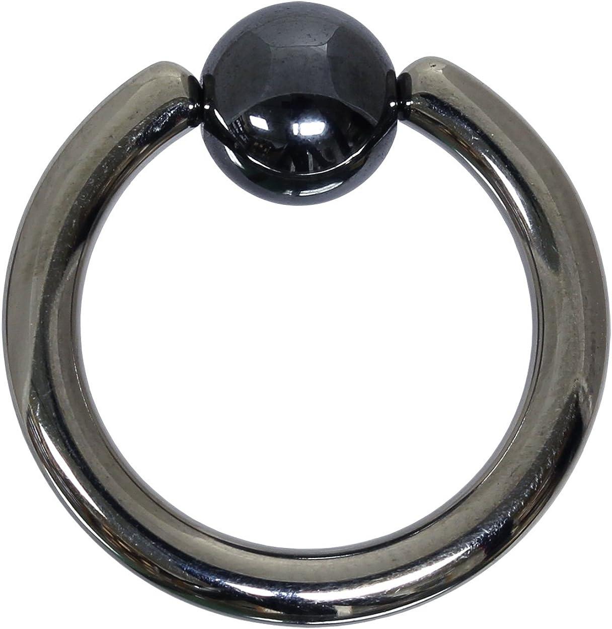 Piercing Anneau Titane BCR 1,2 mm Doré Fermeture BouleDiamètre 6-12 mm