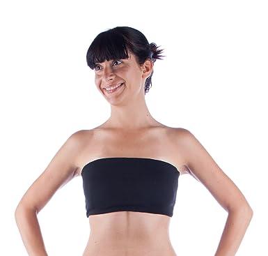 Amazon.com: Black Strapless Yoga Sports Bra Bandeau: Clothing