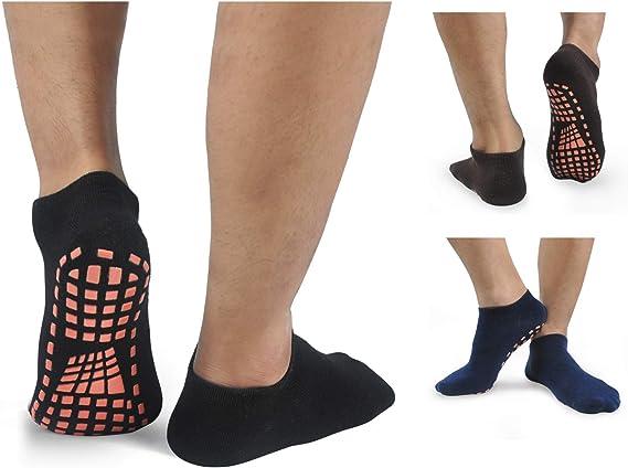 HYCLES Calcetines de yoga para hombre antideslizantes para pilates con agarre
