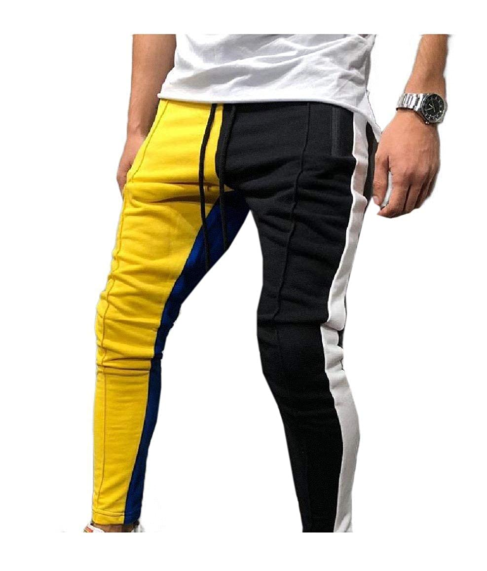VITryst-Men Plus Size Athletic Fit Trousers Comfy Casual Loose Trousers