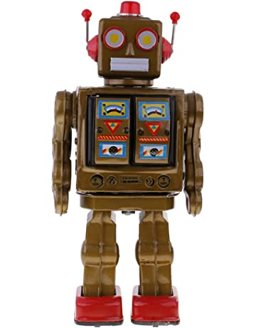 KESOTO Baterías Retro Operadas Walking Electron Robot Tin Toy Coleccionables - Oro