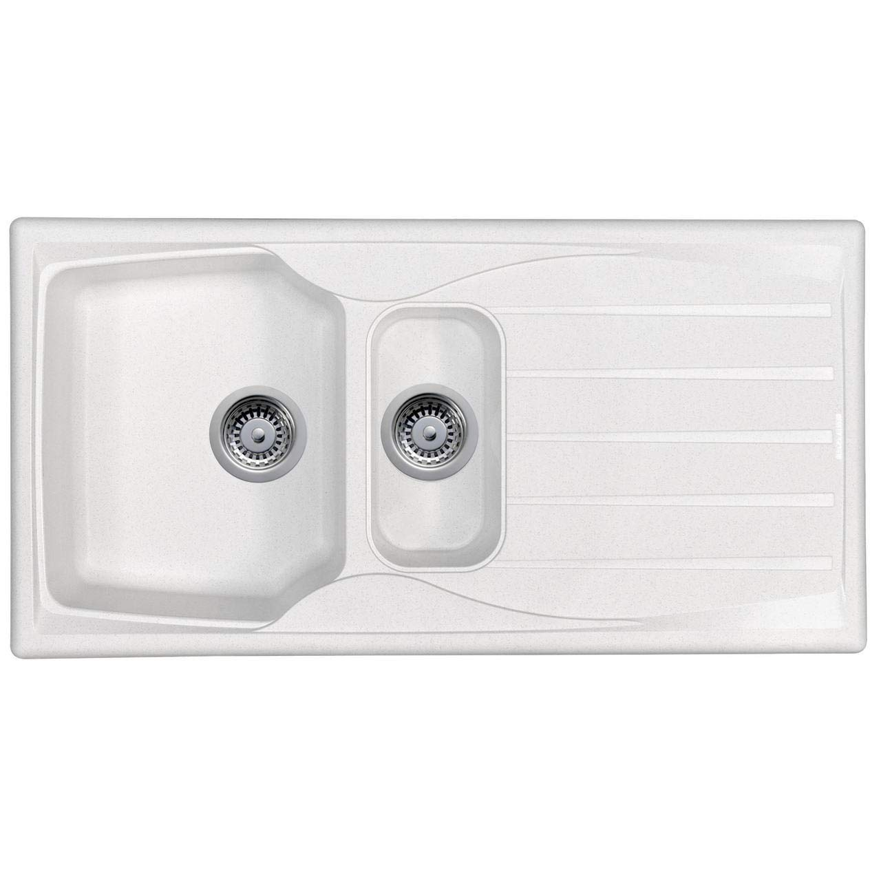 Astracast Sierra 1 5 Bowl Reversible Teflite Kitchen Sink In White Waste Kit Buy Online In Belarus At Desertcart