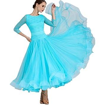 Vestido de Baile de Salón Trajes de Flamenca Vals Danza del ...