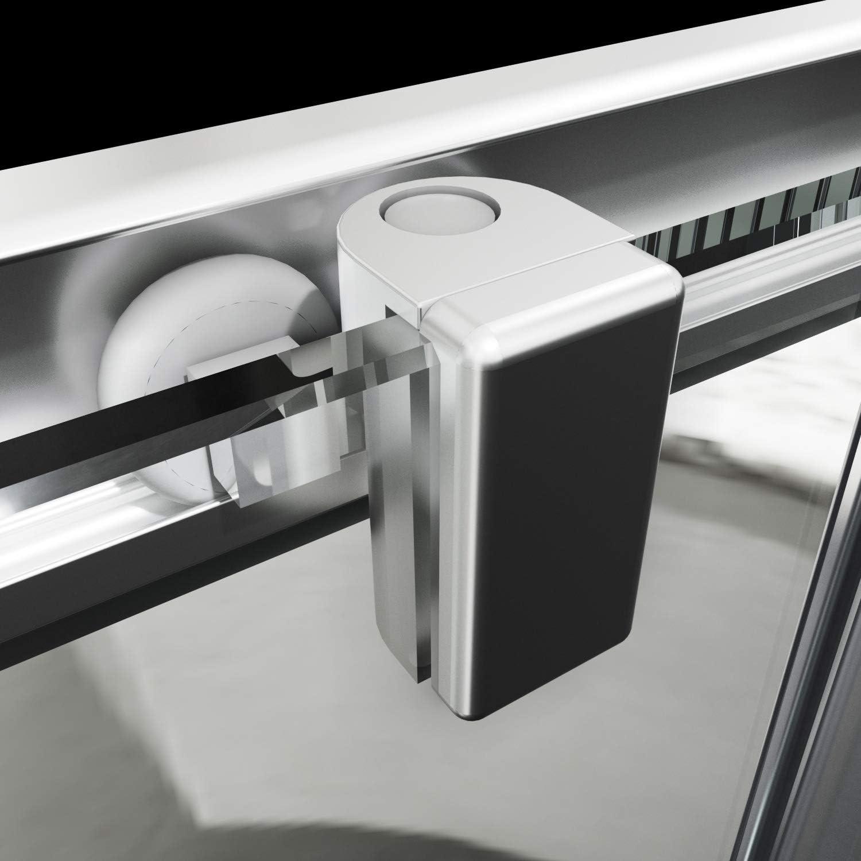 alle Gr/össen MOG Duschkabine mit Schiebet/üren 70x70 cm H/öhe 185 cm Eckdusche mit Rollensystem aus 6mm teilsatiniertem ESG Glas DK77