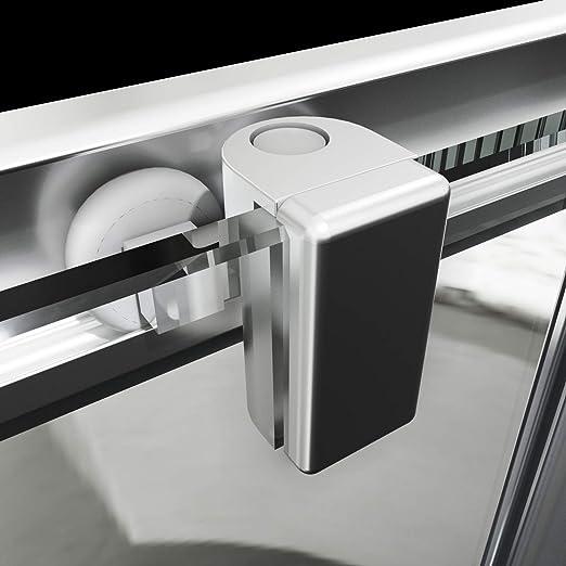 SONNI Mampara Ducha 80x80cm,Angular Puertas Corredera,Cabina de Ducha Retangular con Vidrio Templado de Seguridad 5mm: Amazon.es: Bricolaje y herramientas