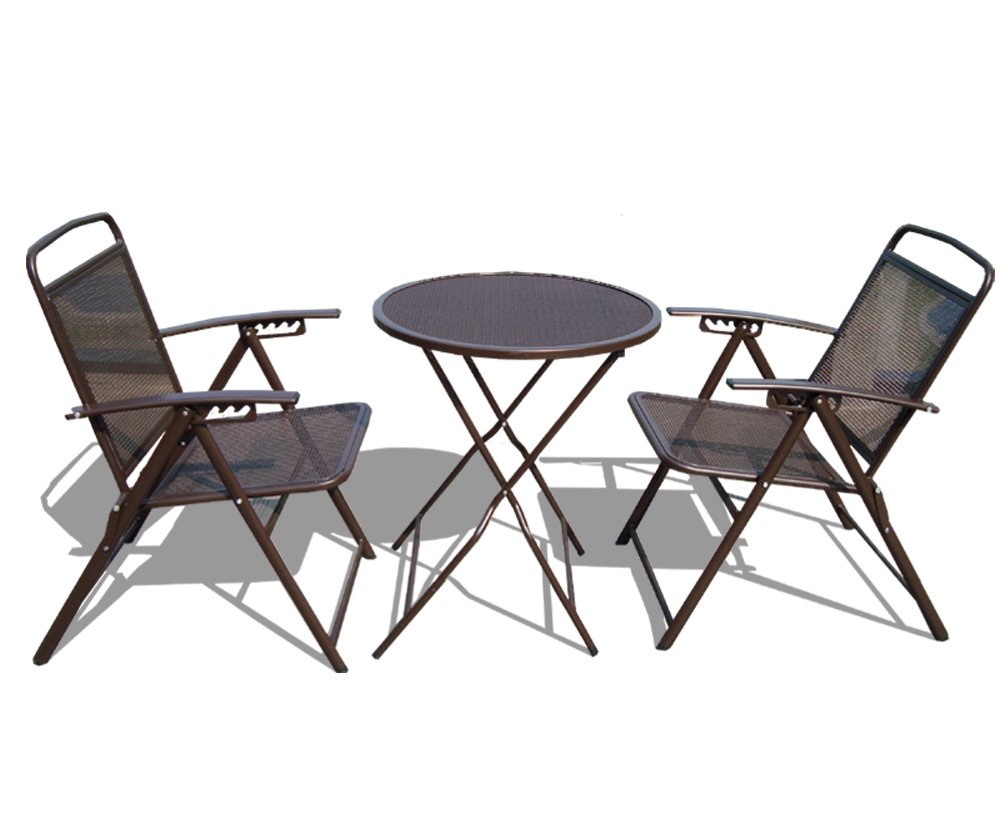 Amazon.com : STRONG CAMEL Bistro Set Patio Set Table And Chairs Outdoor  Wrought Iron CAFE Set METAL Black : Outdoor And Patio Furniture Sets :  Garden U0026 ...