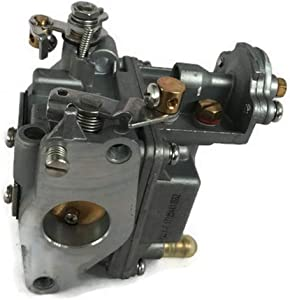 ITACO Boat Motor 835382T04 Carburetor Kit Carb Assy for Mercury Mariner Mercruiser Quicksilver Outboard 9.9HP - 15HP 4-Stroke Engine
